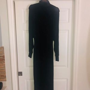NEWPORT NEWS EASY STYLE long black glittery dress